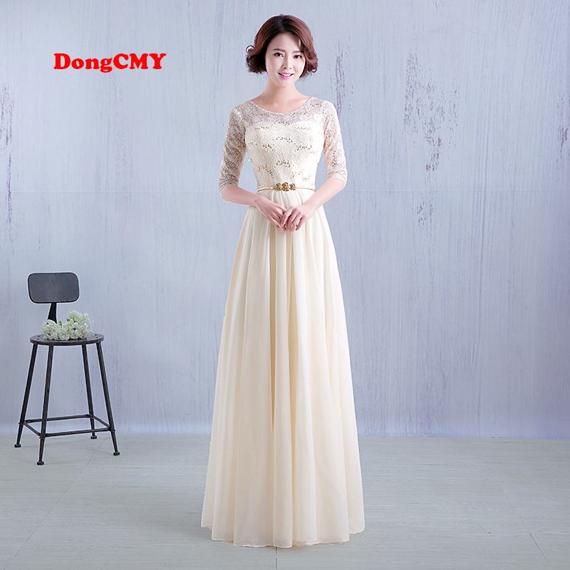 DongCMY 2019 New fashion floor length long design vestido de festa robe de soiree   Bridesmaid     dress