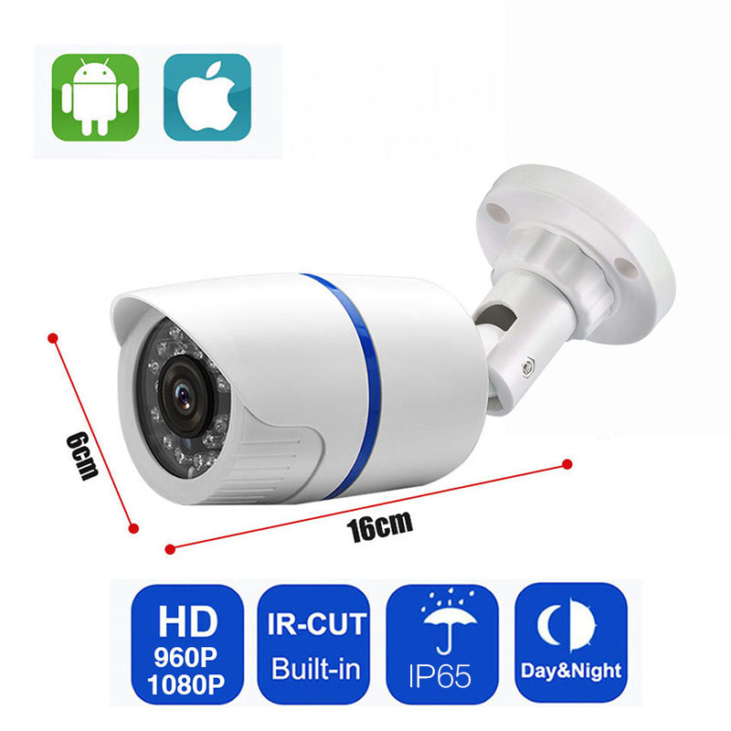IP Bullet Camera 1080P 2MP HD Indoor Outdoor Security Bullet POE Camera Home CCTV ONVIF Surveillance Cameras Waterproof original hikvision 1080p waterproof bullet ip camera ds 2cd1021 i camera 2 megapixel cmos cctv ip security camera poe outdoor