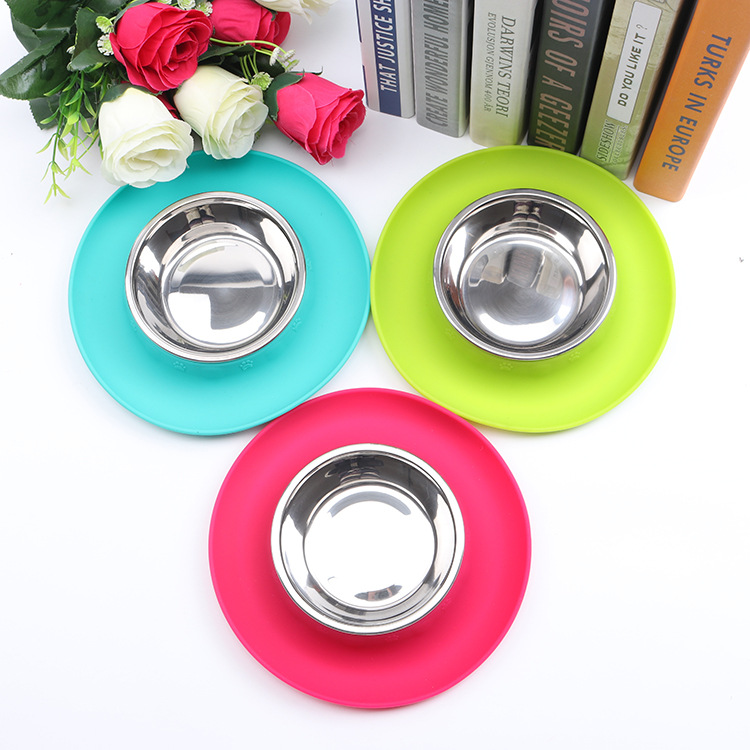 DOGIBILA Nova okrogla silikonska posoda za hišne ljubljenčke - Izdelki za hišne ljubljenčke