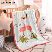 Cartoon Double Layer Baby Blankets Newborn Flannel Winter Swaddle Wrap Stroller Cover Baby Blanket Bedding Props Baby Blanket high quality baby blanket infant bebe flannel swaddle envelope stroller cartoon blanket with toy newborn baby bedding blankets