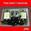 Hid лампы быстро яркий hid ксенона AC 12 В 55 Вт быстрый старт для авто фары H1 H3 H4 H7 H11 hb3 880 hid conversion комплект