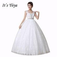 Это yiiya плюс Размеры без рукавов Беременность Свадебные платья пол Длина принцессы белого цвета простые дешевые Блёстки невесты платье HS151