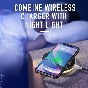 Image 5 - Mcdodo 10W Qi Wireless Light Charger For iPhone X Xr Xs Max 8 Fast Charging Wireless Pad For Samsung S9 S8+ Huawei Mate 20 Pro