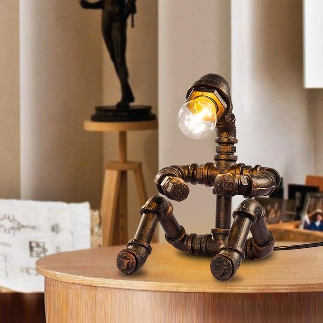 Creative Water Pipe Robot Vintage Nostalgic Eye Bedside