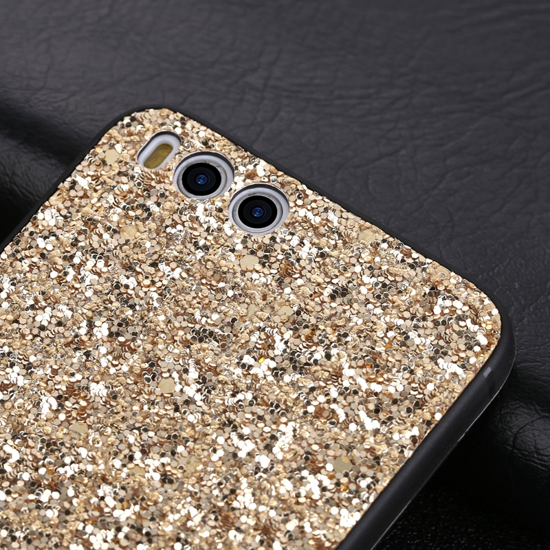Luxury Glitter Bling Back Cover For Xiaomi mi 5X 6 6X 8 SE Mrs 2S A1 A2 Soft TPU Phone Case Redmi Note 5 Pro 4 4X 5A Prime 6 6A in Fitted Cases from Cellphones Telecommunications