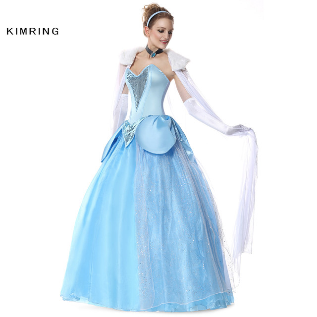 kimring belle princess halloween costume adult cinderella costume fantasy cosplay deluxe costume ball gown fancy dress for women