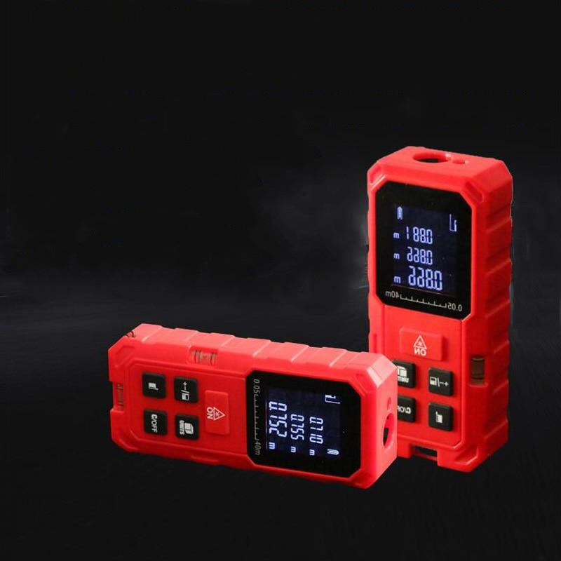 Handheld laser range finder 50M 70M 100M double horizontal bubble distance measuring instrument equipment ruler test tool