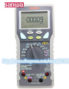 Sanwa Digital Multimeters 500000 Dual-Display Count for DCV NEW Pc-Link PC7000