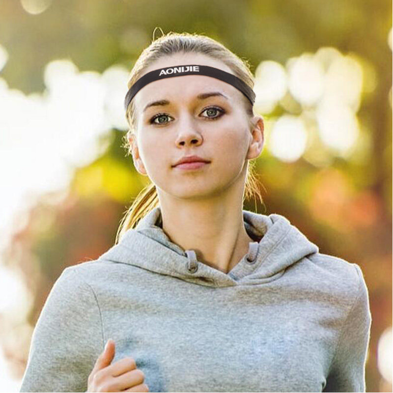 d561e66203ae AONIJIE Yoga Headbands for Women Men High Elastic Tennis Hair Band Outdoor  Running Jogging Anti slip Elastic Sweatband-in Yoga Hair Bands from Sports  ...