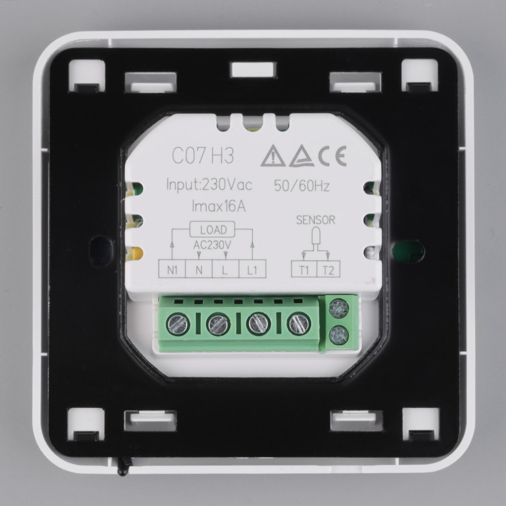 C07h3 16 a Digital LCD Thermostat thermostat hypocauste Touch Screen UE