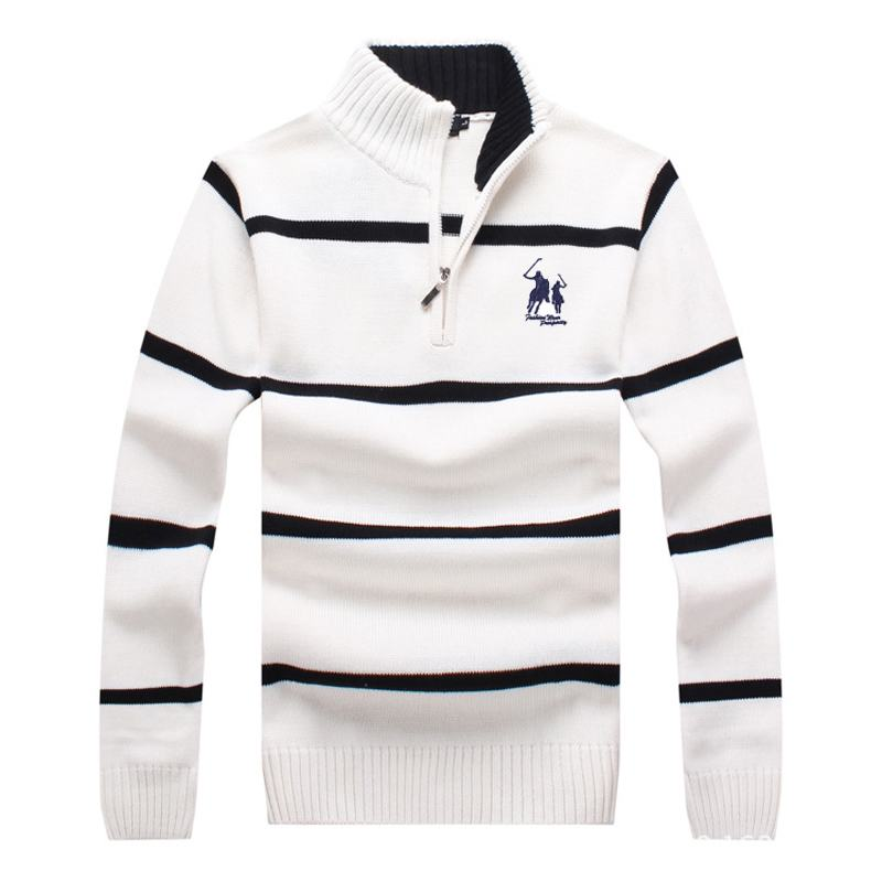 Top quality 2019 New Mens long sleeve knitted sweaters casual mens 100% cotton striped knitted outerwear fashion mens coats