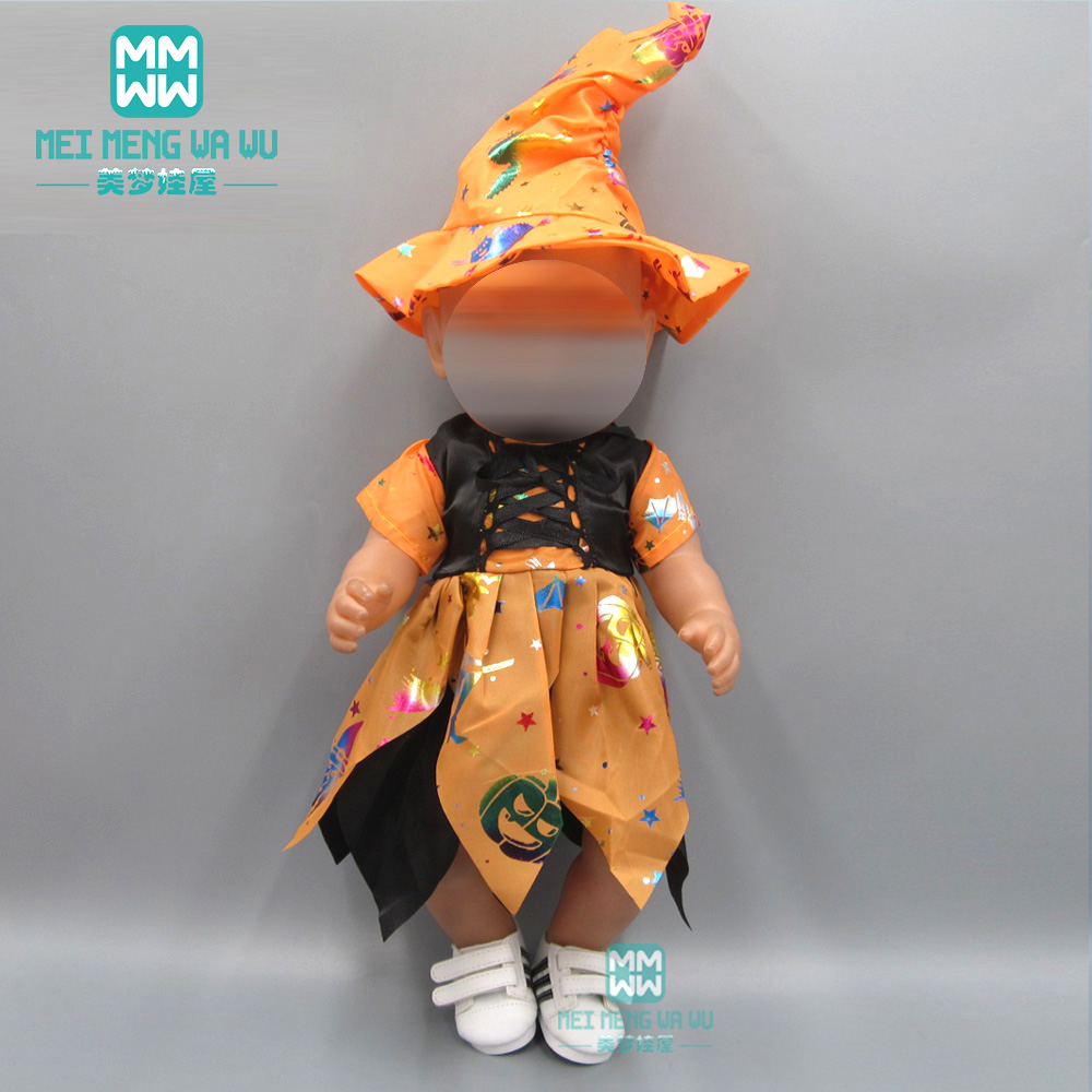 Dolls Clothes For 43-45cm American Doll And Toy New Born Doll Accessories Fashion Halloween Day Party Baby Dress
