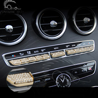 11 pcs / set Aveo Lova AC Button Air Conditioner Accessories Sticker for Mercedes E Class E300L E200L C Class C200L C180L GLC