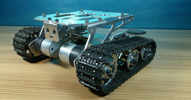 DIY 298 Alloy Tank Chassis intelligent car crawler chassis caterpillar vehicles tanks robot chassis the newest diy aluminum wifi car tank chassis robot crawler antiskid 1h version