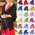 Мода марка кашемир шарф элегантные шали и шарфы обернуть дальний зимний шарф женщины 19 чистые цвета A1