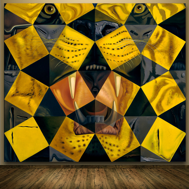 Abstract Artwork Tiger for site Salvador Dali Animal Oil Painting ...
