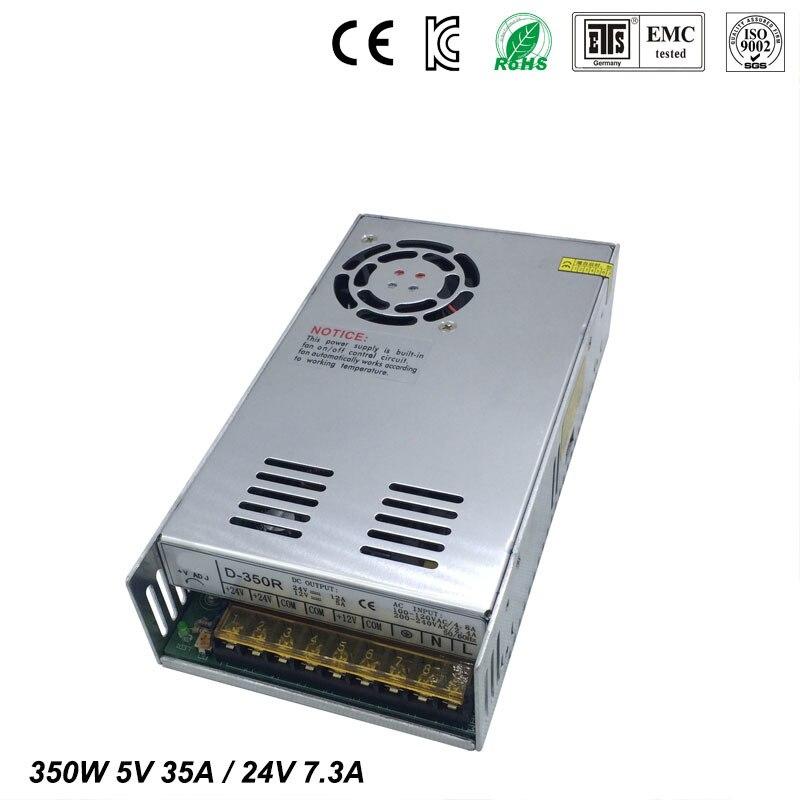 Best quality double sortie 5V 24V 350W Switching Power Supply Driver for LED Strip AC100-240V Input to DC 5V 12V free shipping все цены