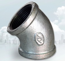 цена на DN20 Galvanized Wire Connector Inner Elbow Pipe Fittings Elbow  45 Degree