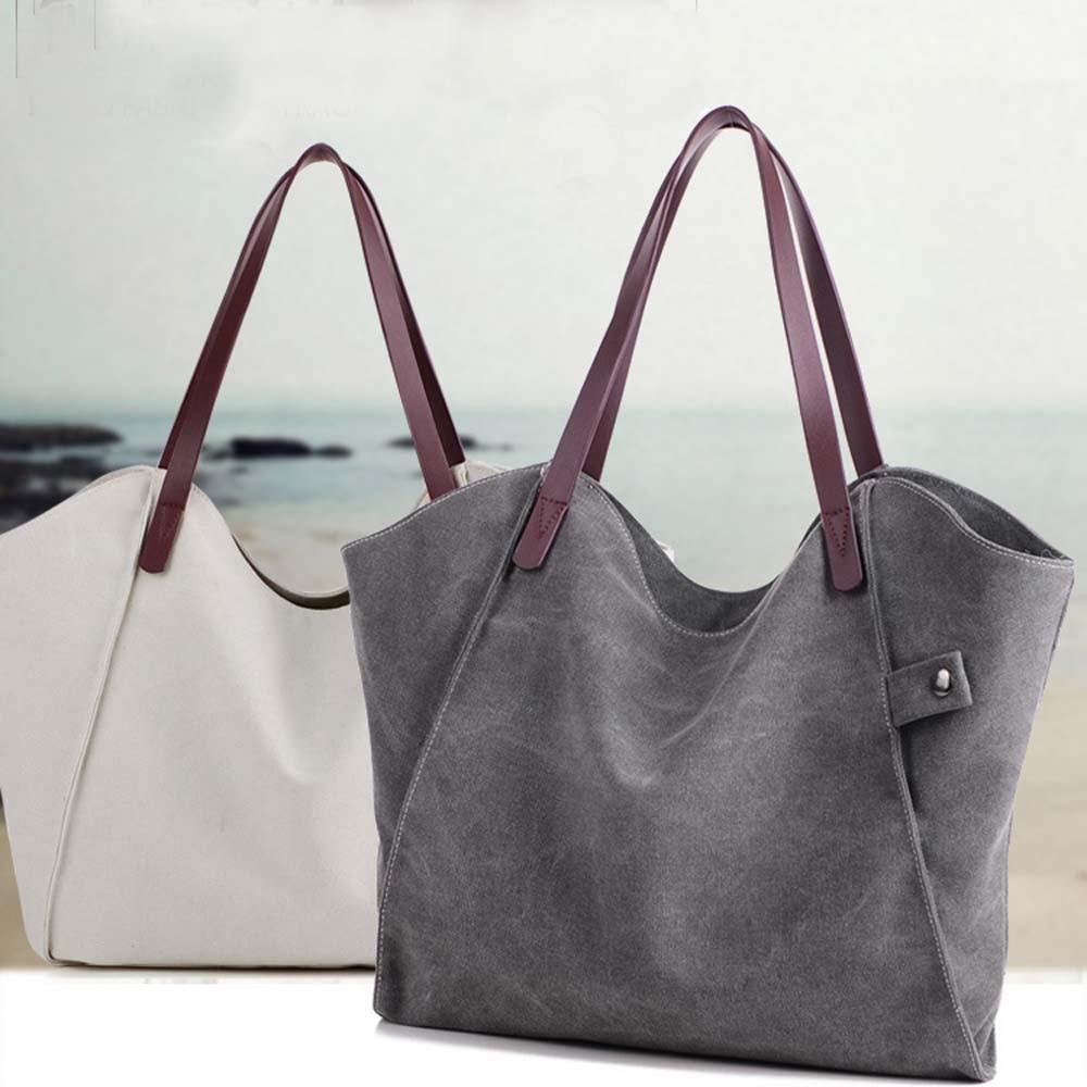 Canvas Handbag Shoulder Crossbody Bag Tote  Canvas Bolsa Feminina Couro Grande