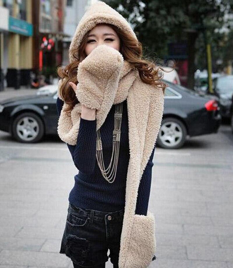 1 կտոր New Cashmere ավելի խիտ կին գլխարկներ - Հագուստի պարագաներ - Լուսանկար 3