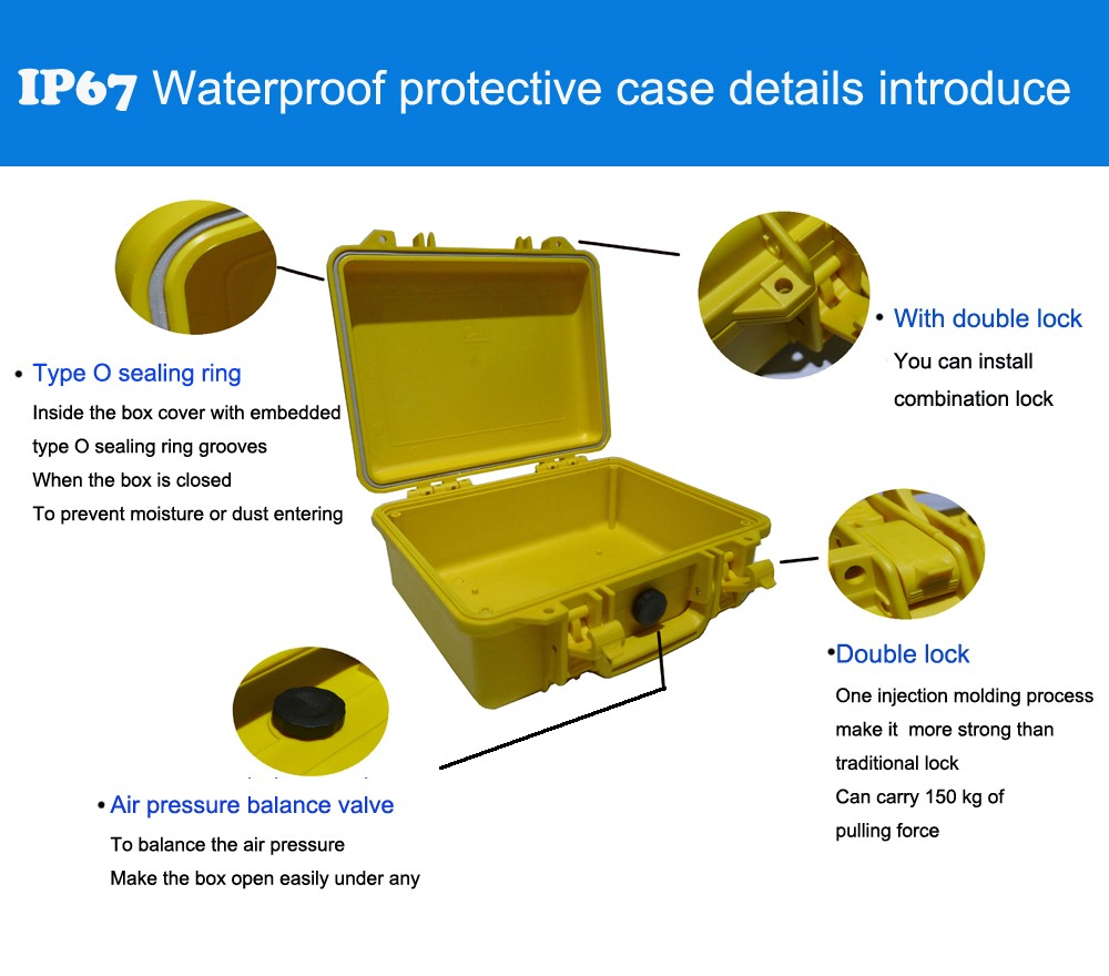 Высокое качество водонепроницаемый чехол для инструмента ящик для инструментов тележка герметичный фотографический инструмент чехол для камеры с предварительно вырезанной пеной