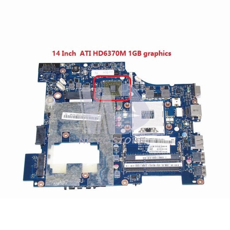 PIWG1 LA-6751P 11S10250000 For Lenovo Ideapad G470 14 Inch Laptop Motherboard HM65 DDR3 HD6370M Video Card
