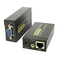 Repeater Sender Transmitter Amplifier RJ45 VGA Extender Audio Receiver For Projector Network Signal Adapter With Cable Converter