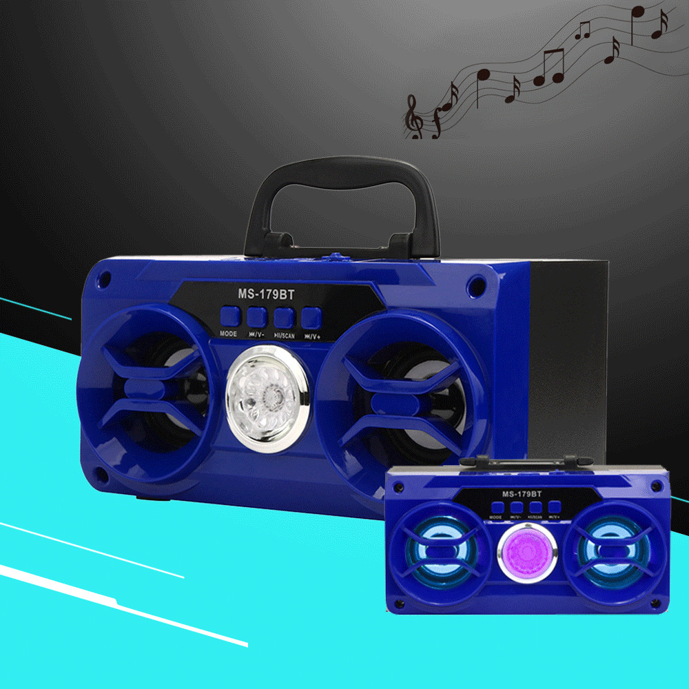 MS-179BT Multimedia Bluetooth 2.0 Wireless Portable Speaker Super Bass 2 Horns FM Radio TF Card Music Player Computer speakers