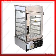 500L 110V 220V stainless steel surrounded toughened glass commerical bun steamer bread steamer bread maker
