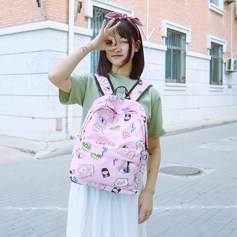 Casual Women Backpack for School Teenager Girl Stylish Ladies Bag Backpack Large Capacity Lady Korean Travel Style Back Pack Sac