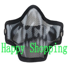 Tactical Airsoft Metal Mesh Net Hunting Wargame Protect Half Face Cosplay Mask