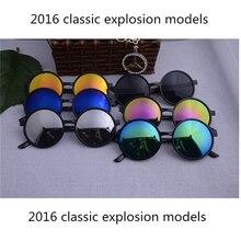 UCOOL Hot Vintage Round lens Sunglasses Women Classic Gafas Oculos Retro Coating Sun Glasses Men Round FREE SHIPPING