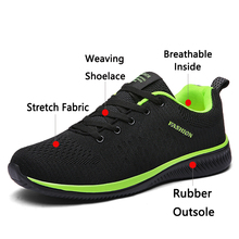 JUNJARM New Mesh Men Casual Shoes Lace-up Men Shoes Lightweight Comfortable Breathable Walking Sneakers Tenis Feminino Zapatos