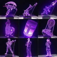 Jeu 3D lampe à LED 7 couleurs tactile interrupteur Table bureau lumière lave lampe acrylique Illusion chambre atmosphère éclairage Fans cadeau toutes les peaux