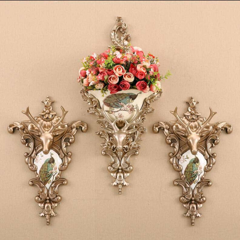 Dining room bedroom milk tea shop to attract the wealth of deer head wall hanging decorations image