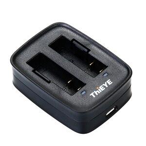 Image 2 - Podwójna ładowarka + dwa akumulatory 1100mAh do ThiEYE T5 Edge/T5 Pro/T5e/AKASO V50 Elite / 8k kamera akcji