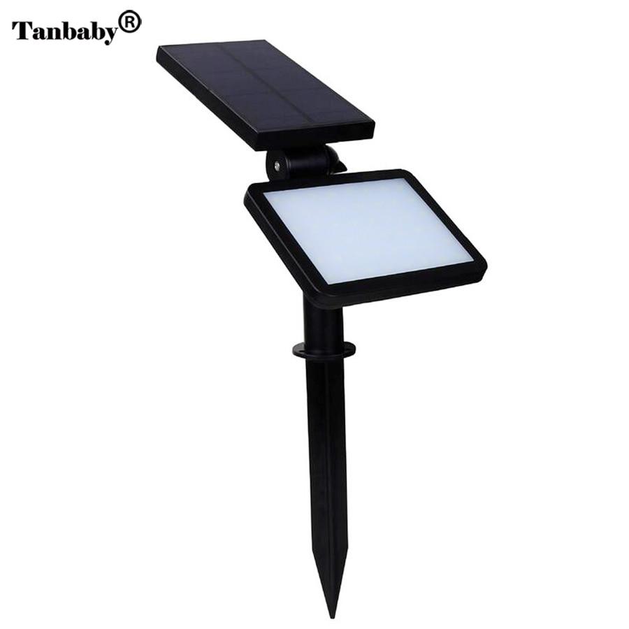 Tanbaby 48 LED Solar Luci 5 Modalità di Illuminazione di Paesaggio di Sicurezza esterna lampada Da Parete Faretto per Yard Garden Path Passo Carraio Prato