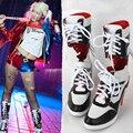 2016 Venta Caliente Comando Suicida Harley Quinn Harley Quinn Cosplay Shoes Zapatos Mujer Zapatos de Halloween Cosplay Personalizado Para Usted