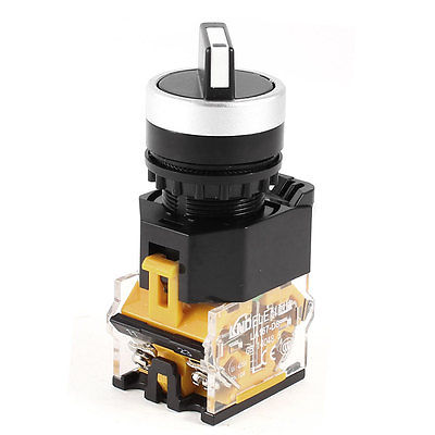 Black Cap 3 Positions Selector Self-Locking Rotary Switch 2NO 380V 10A LA38-20X/3 22mm tn2ss rotary button switch gear selection type 2 22mm with self locking
