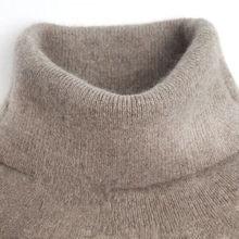 Pull tricoté en cachemire à col roulé pour femme, basique, automne et hiver, H533