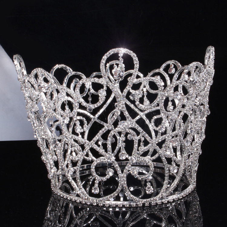 Novelty crystal bridal wedding crown and wedding hair accessories novelty crystal bridal wedding crown and wedding hair accessories wedding prom party pageant big crown bridal tiara jewelry in hair jewelry from jewelry junglespirit Gallery