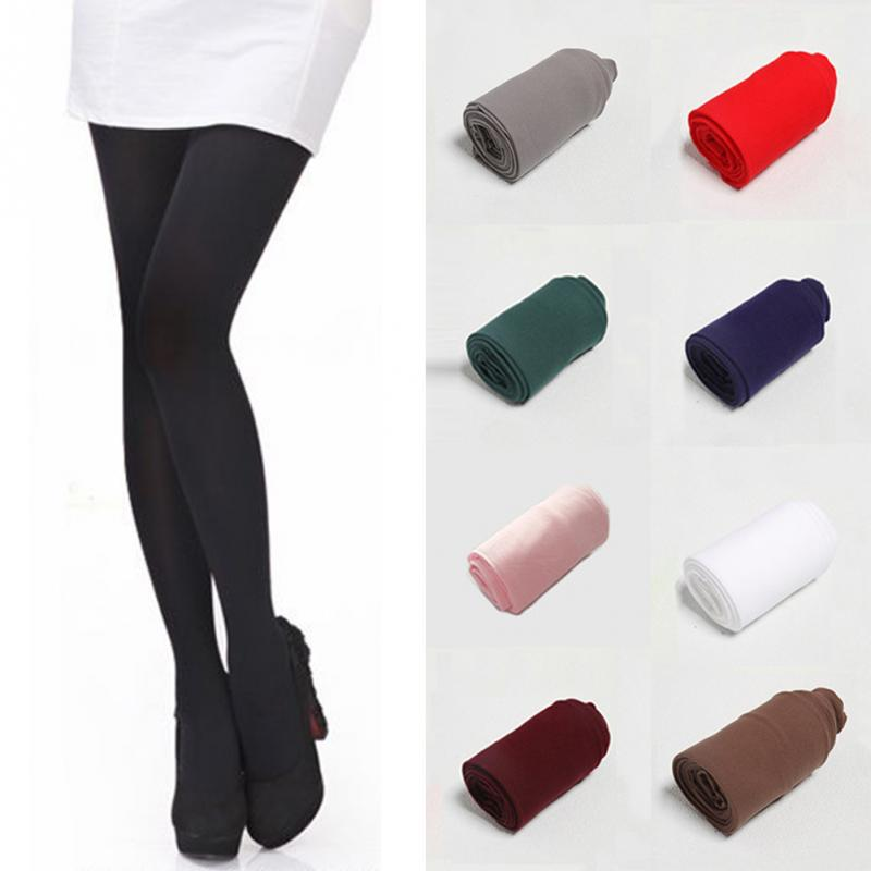 9a3eb44c19d New Arrival Thick Warm Silk Stockings Casual Pure Color Stretch Tights  Opaque Pantyhose