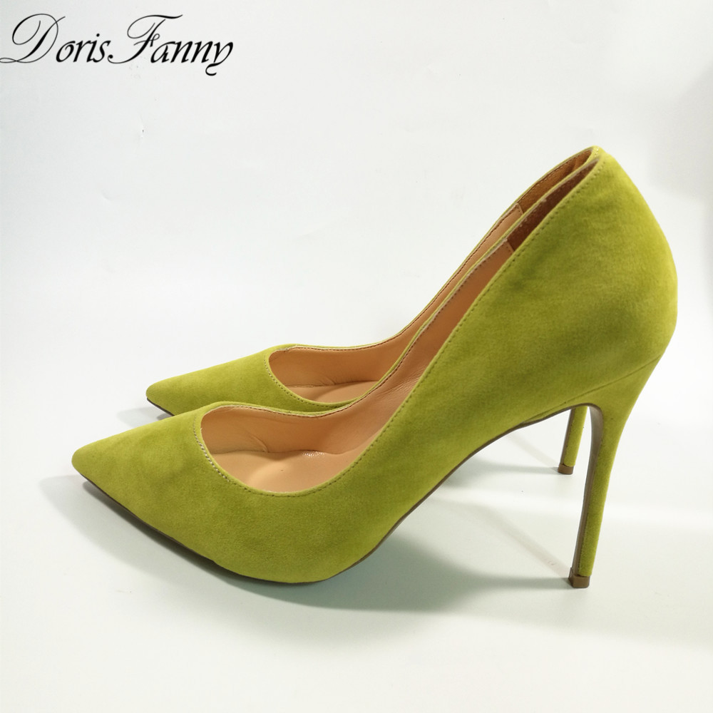 Green And Yellow High Heels - Red Heels Vip