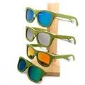 BOBO Bamaboo PÁJARO 4 Lente Hecha A Mano gafas de Sol Polarizadas Gafas de Sol De Madera Real Mujer Moda Artículos de Regalo con la Caja De Madera 2017