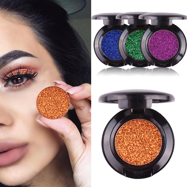 New MISS ROSE Brand Glitter Eyes Eyeshadow Palette Single Color Shining Metallic Shimmer Pigments Eye Shadow