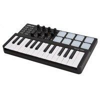Mini Portable Mini 25 Key USB Keyboard and Drum Pad MIDI Controller Professional Musical instruments
