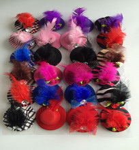 Free Shipping Puppy dog hairpin teddy hair clip pet cat lace hair adornment randomly color