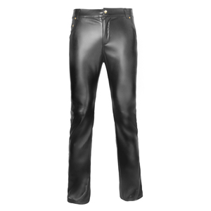 Image 3 - Mens Lingerie Wetlook Slim Fit Shiny Patent PVC Leather Latex Nightclub Party Tight Pants Leggings Trousers with Open Penis Hole