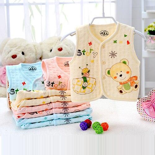 Freies Verschiffen Heiß! Herbst Und Winter Kinder Baumwolle Weste Kleinkinder Kinder Kleidung Baby Warme Weste äRger LöSchen Und Durst LöSchen