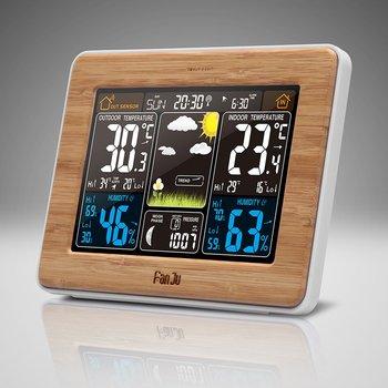 FanJu FJ3373 מזג אוויר תחנת הברומטר מדחום מדדי לחות חיישן אלחוטי LCD תצוגת מזג אוויר תחזית מעורר דיגיטלי שעון